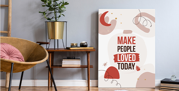 Inspiring motivational canvas print