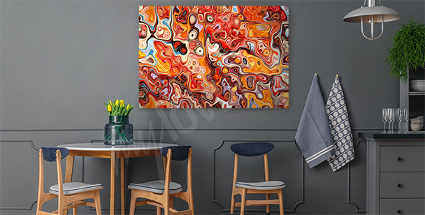 Intensive colors canvas print
