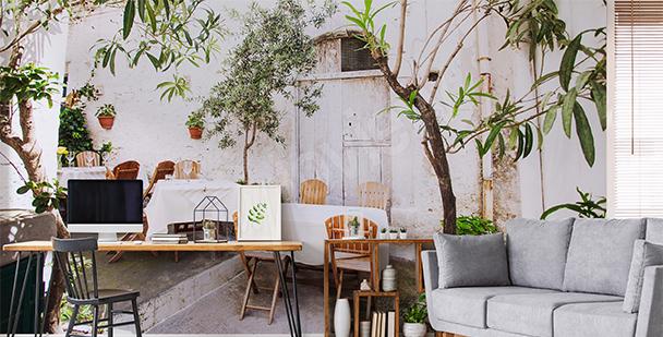 Italian café mural