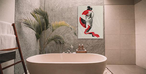 Japanese-style canvas print