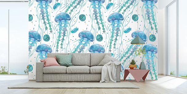 Sea mural for bedroom