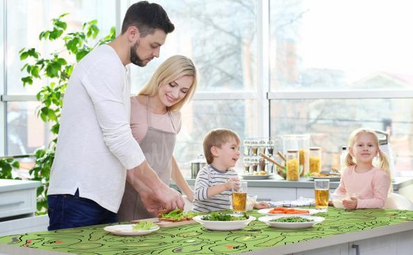 Kitchen countertop sticker