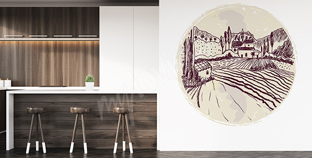 Kitchen landscape sticker