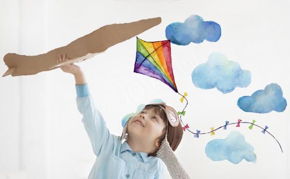 Kite sticker for a boy