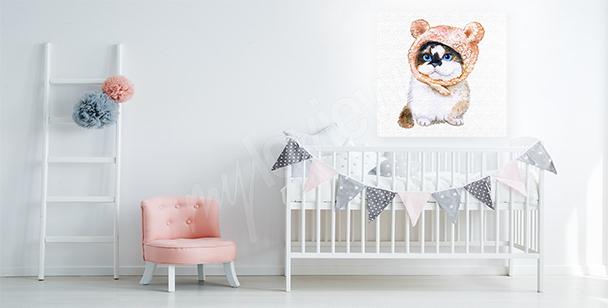 Kitty canvas print for children