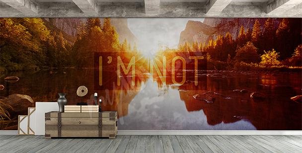 Lake view mural