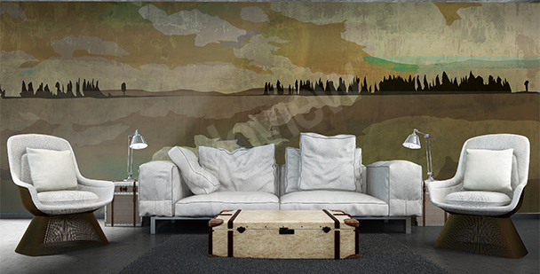 Lake view wall mural