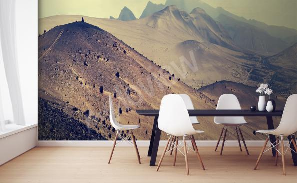 Landscape mural for kitchen