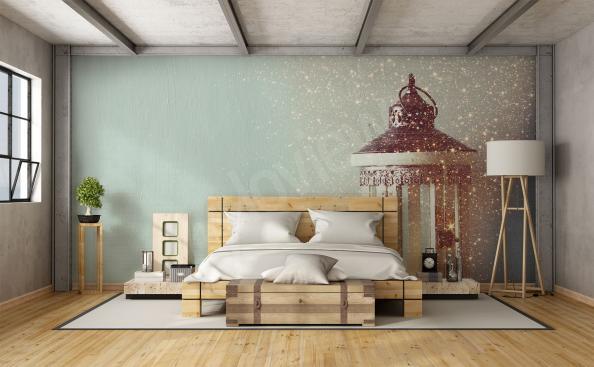 Lantern mural for bedroom