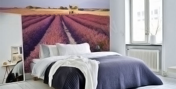 Lavender meadow wall mural