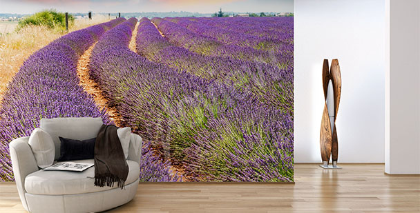 Lavender wall mural for living room