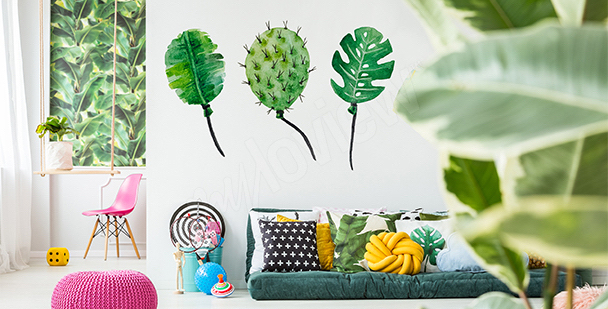 Leaf balloons sticker