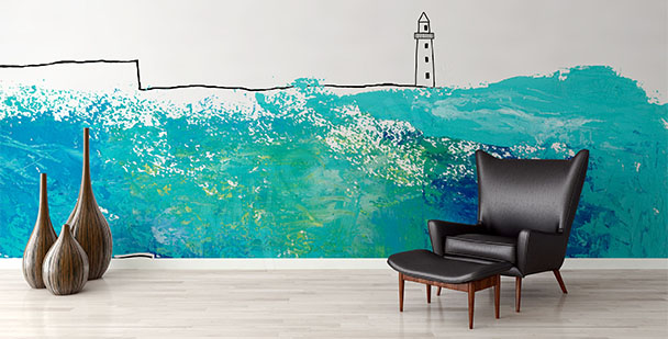 Lighthouse mural: drawing