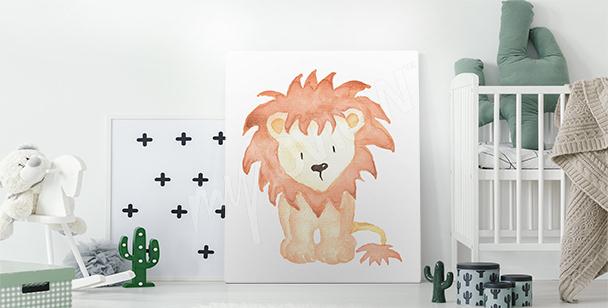 Lion cub picture canvas print