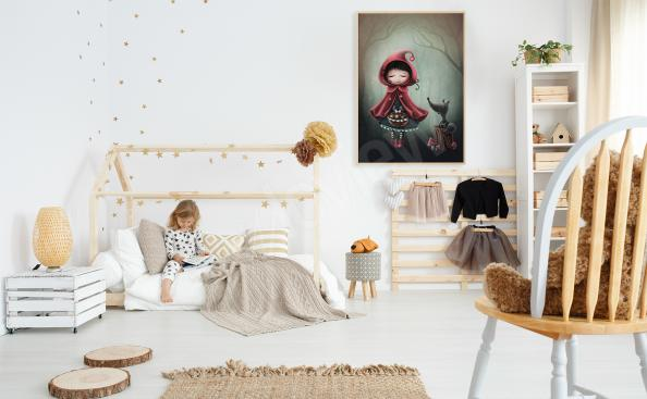 Little Red Riding Hood poster for a girl's room