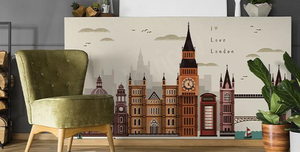 London and architecture sticker
