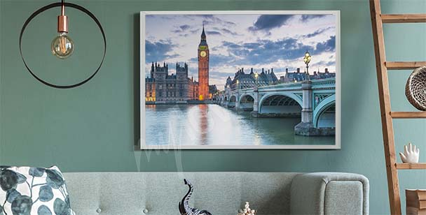 London at sunset poster