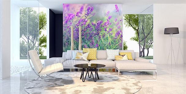Macro scale lavender mural