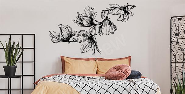 Magnolia sticker for the bedroom