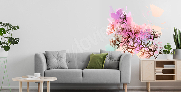 Magnolia sticker for the living room