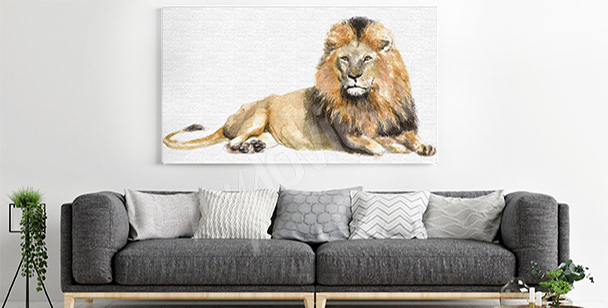 Majestic animal canvas print