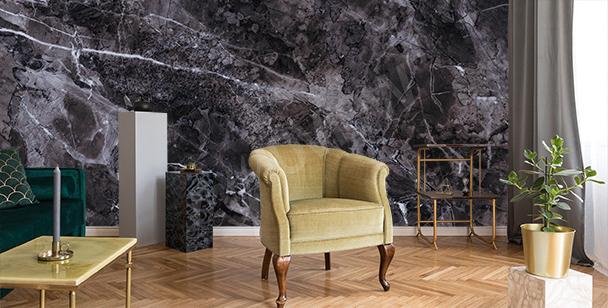 Marble living room mural