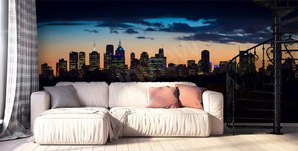 Melbourne panorama mural