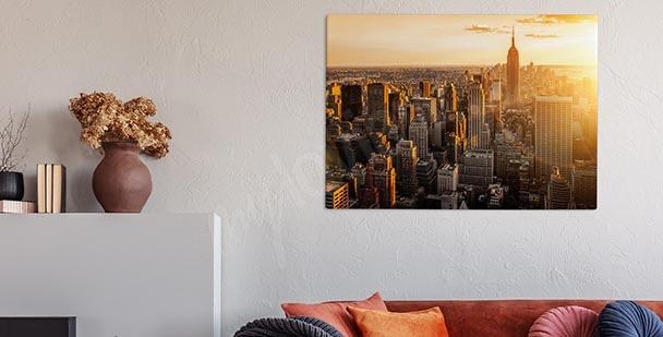 Metropolis cityscape canvas print