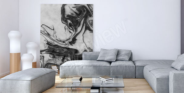 Minimal canvas print for living room