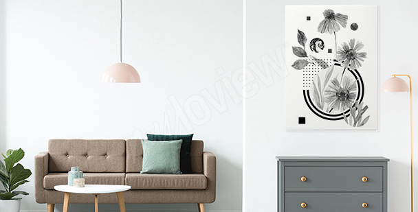 Minimalism hallway canvas print