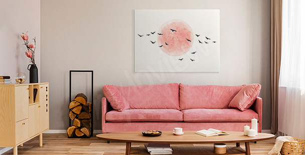 Minimalist birds canvas print