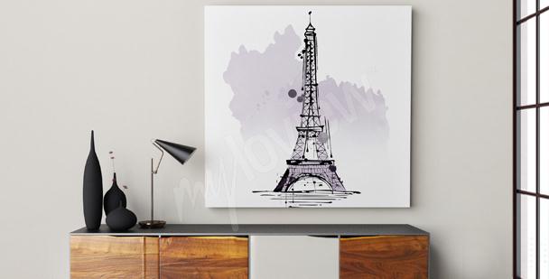 Minimalist Eiffel Tower canvas print