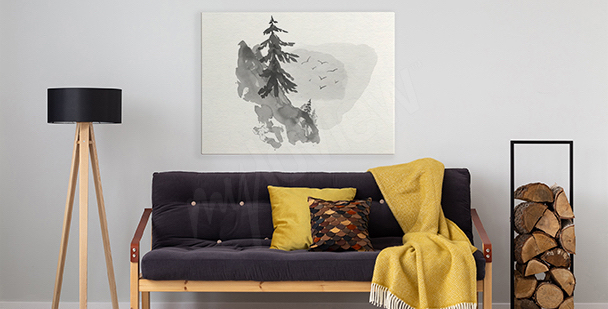Minimalist forest canvas print