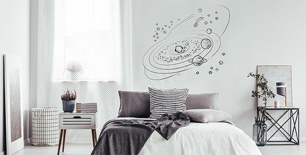 Minimalist galaxy sticker