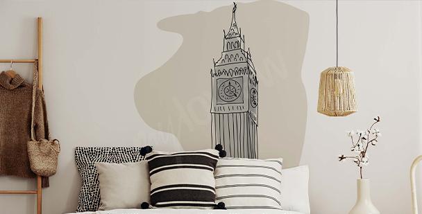 Minimalist London sticker
