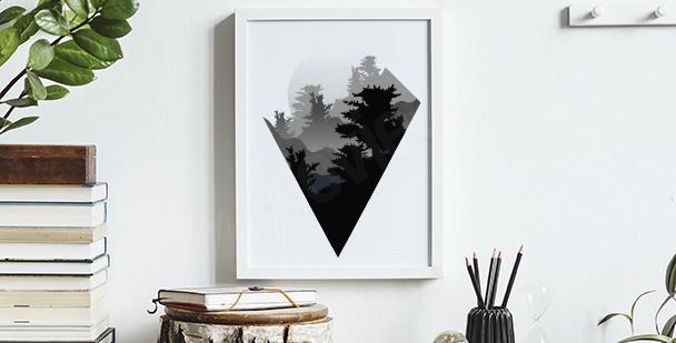 Minimalist mountains poster