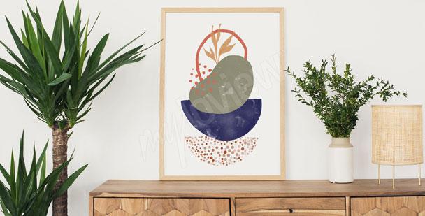 Minimalist pattern poster