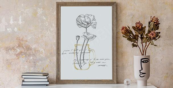 Minimalist poppies poster