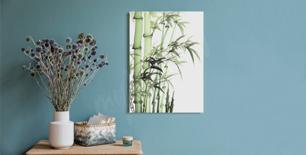 Minimalistic bamboo canvas print