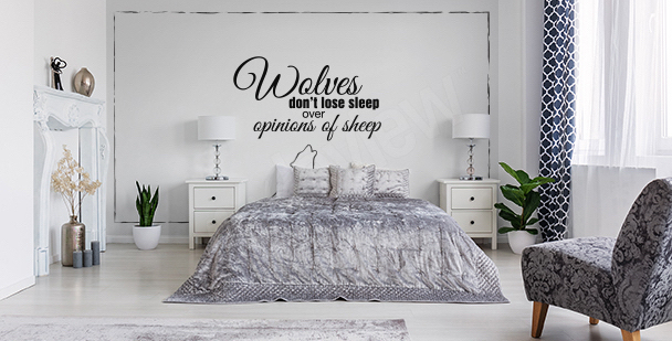 Minimalistic bedroom mural