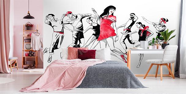 Modern dance mural