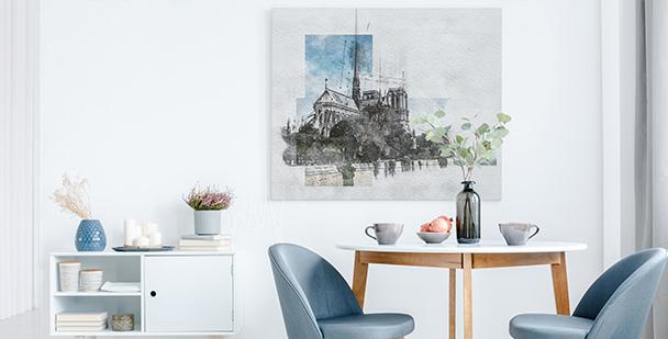 Modern Paris canvas print