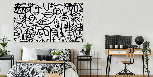 Modern-style canvas print