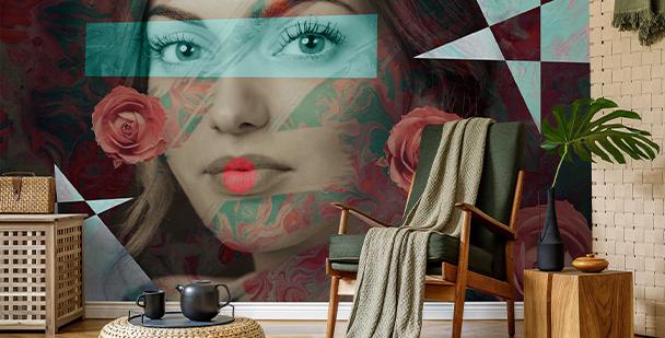Modernist woman wall mural
