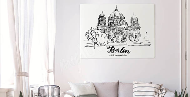 Monochromatic Berlin canvas print