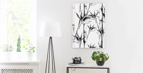 Monochromatic stems canvas print