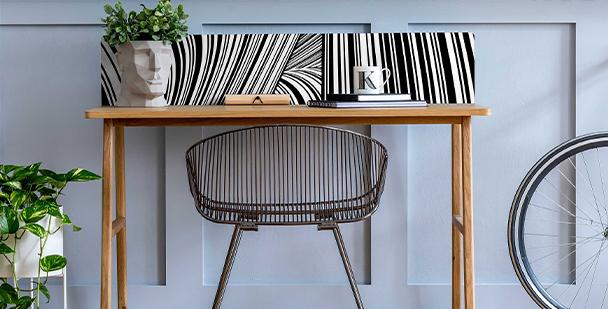Monochromatic stripes sticker