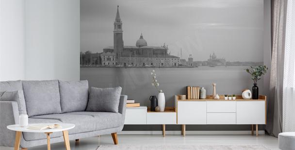 Monochromatic Venice mural