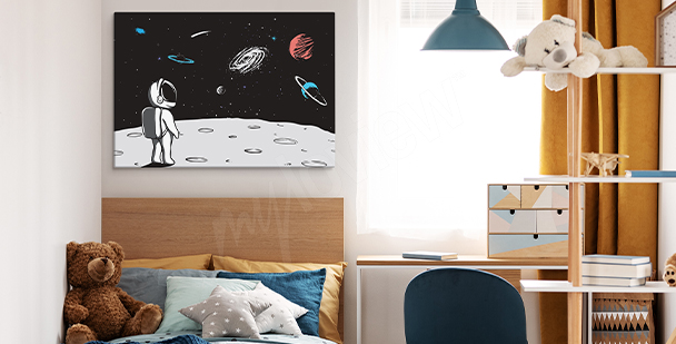 Moon landing canvas print