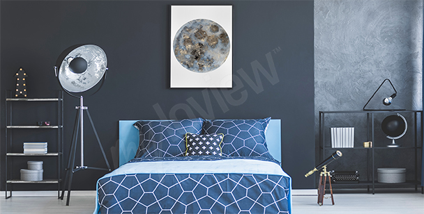 Moon poster for the bedroom